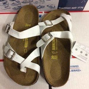 Birkenstock Shoes - Birkenstock White Mayari Sandals
